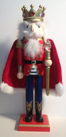 "Decorative King Nutcracker 15"" Jeweled Crown and Scepter"
