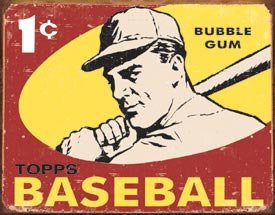1959 Topps Baseball Collectible Metal Sign, Model# 1404 , 16x13