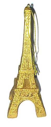 Gold Resin Eiffel Tower Ornament