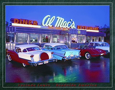 Al Mac's Diner Nostalgic Metal Sign by Lucinda Lewis, 16x13