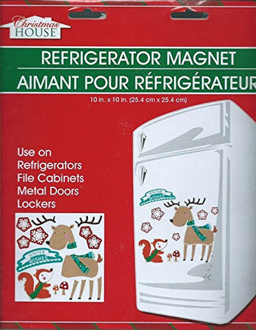 Build Your Own Holiday Christmas Winter Reindeer Squirrel Winter Wishes Refrigerator Magnet Sheet
