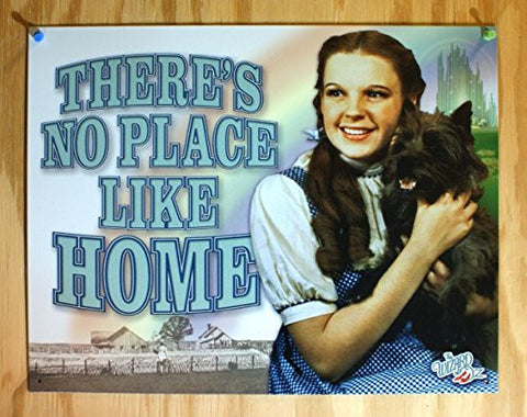 Wizard of Oz Tin Metal Sign : No Place Like Home- Made In The USA