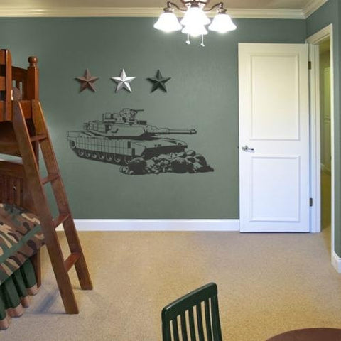 Military Tank Giant Wall Applique Decor Sticker (48x21)