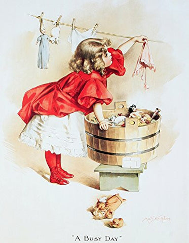 IVORY SOAP GIRL Vintage Metal Sign Laundry Art Tin Dolls , 13x16- Made In The USA
