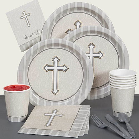 Devotion Party Pack - Cross - Religious - Party Supplies