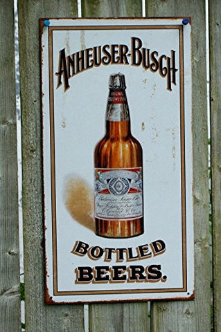 Anheuser Busch - Bottled Beers Metal Tin Sign , 8x16