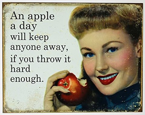 Apple a Day Tin Sign 16 x 13in