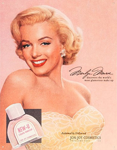 Marilyn Monroe New-U Tin Sign 13 x 16in- Made In The USA