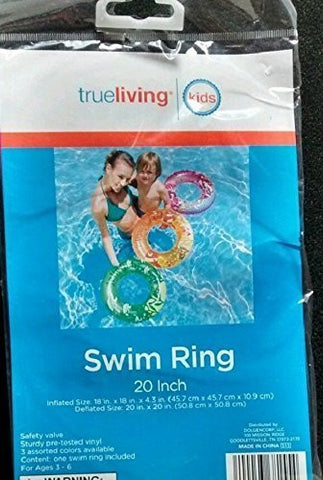 "Trueliving Swim Ring 20"" Assorted Colors"