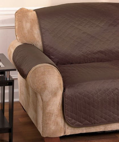 Waterproof Quilted Furniture Covers - Sofa - Chair - Loveseat (Chocolate, Sofa Cover)
