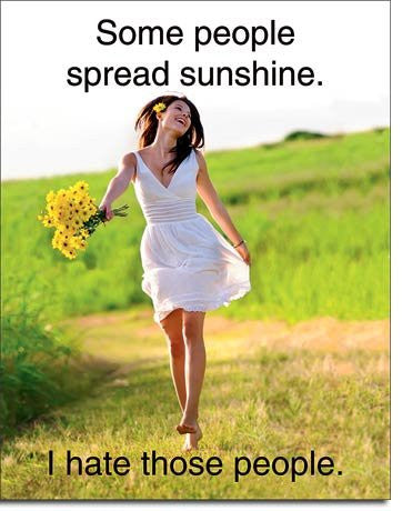 Spread Sunshine Metal Tin Sign- Made In The USA