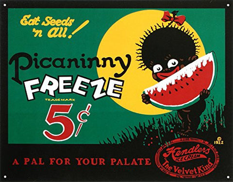 Picaninny Freeze Ice Cream Retro Vintage Tin Sign- Made In The USA
