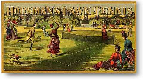 Horsman's Lawn Tennis Metal Tin Sign- Made In The USA