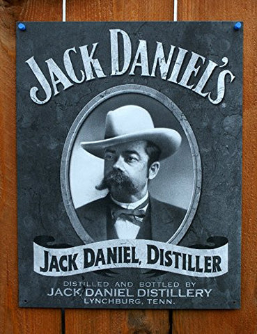 Jack Daniel's Portrait Metal Tin Sign 12 by 16 inch 1 count- Made In The USA