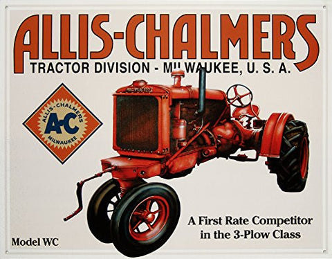 TIN Sign Allis Chalmers - Model U- Made In The USA
