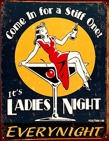 Ladies Night Tin Sign 13 x 16in- Made In The USA