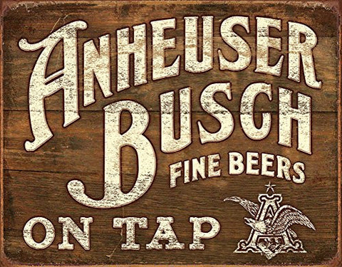 Anheuser- Busch - Fine Beers Tin Sign 16 x 13in