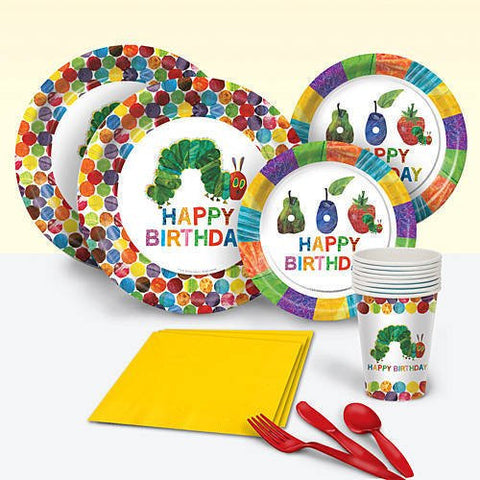 Very Hungry Caterpillar Party Pack for 8 - Plates, Napkins, Cups and More
