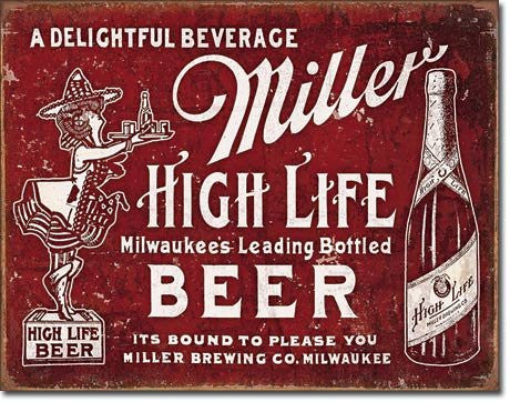 Miller - Bound To Please Tin Sign 16 x 13in