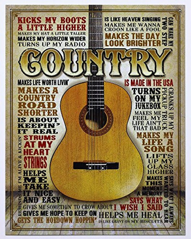 Country - Made in America Tin Sign 13 x 16in- Made In The USA