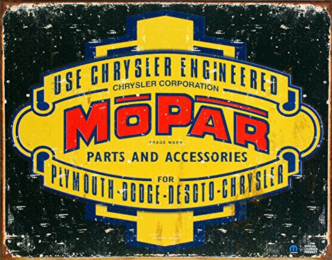 Mopar Tin Sign 16 x 12in- Made In The USA