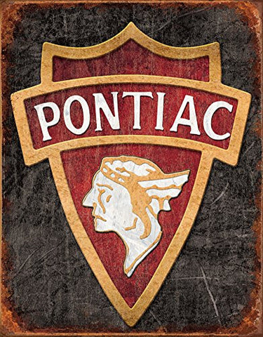 1930 Pontiac Logo Tin Sign 13 x 16in