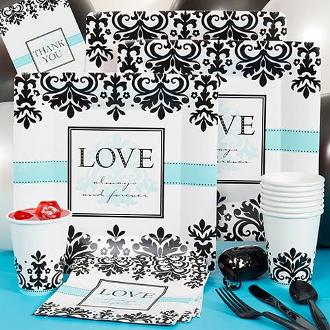 Always and Forever Basic - Party Pack - Wedding Anniversary Party Supplies