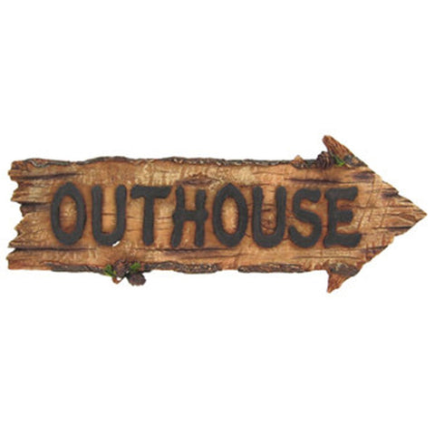 OUTHOUSE Plaque Sign Cabin Garage Barn Bar -Great Father's Day Gift- MAN CAVE