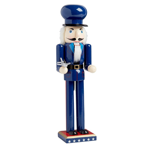 Nantucket Home Wooden Christmas Nutcracker Decor, 15-Inch (USA Air Force Soldier)