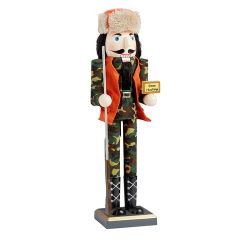 Nantucket Home Wooden Christmas Nutcracker Decor, 15-Inch (Hunter Nutcracker Gone Hunting)