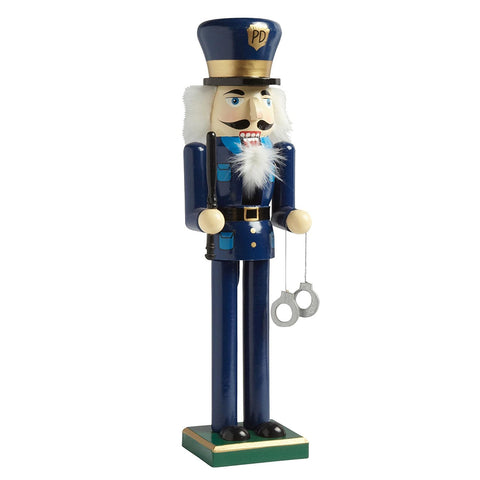 "Nantucket Home Wooden 15"" Policeman Christmas Nutcracker Decor"