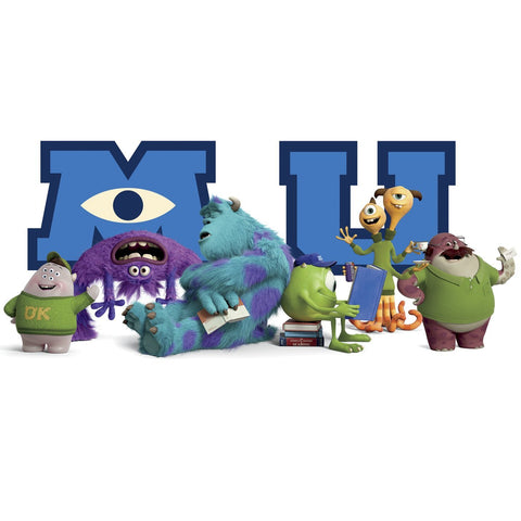 Roommates Rmk2282Gm Monsters University Giant Character Collage Peel And Stick Wall Decals