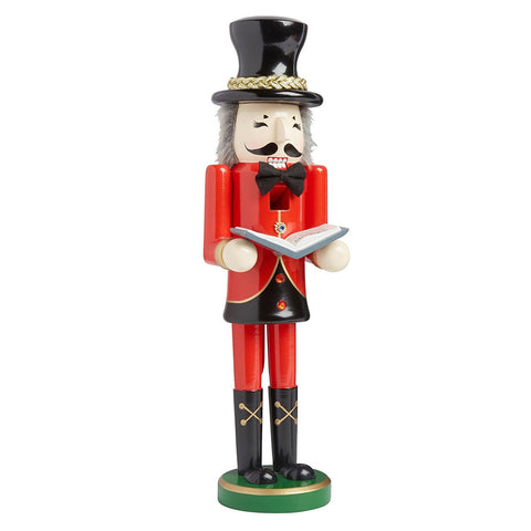 Nantucket Home Wooden Christmas Nutcracker Decor, 15-Inch (Christmas Caroler with Book)
