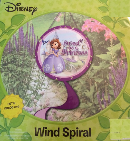 Sofia The First Decorative Garden Wind Spiral - Sweet as a Princess