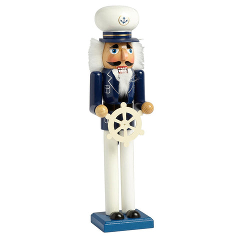 "Nantucket Home Wooden 15"" Sea Captain Christmas Nutcracker Decor"