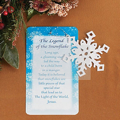 Legend of the Snowflake Christmas Ornament (1 Piece)
