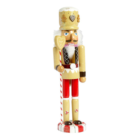 "Nantucket Home Wooden 15"" Gingerbread Man Christmas Nutcracker Decor"