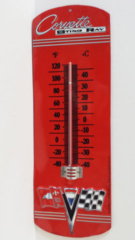 Genuine Chevrolet CORVETTE STING RAY Thermometer Automotive Parts & Service Garage Dad - Great Christmas Gift - MAN CAVE