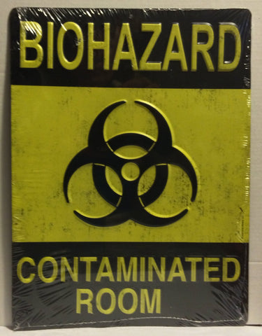 "Biohazard - Contaminated Room Tin Sign - 9"" x 12"""