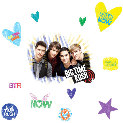 ROOMMATES RMK1579GM Big Time Rush Peel & Stick Giant Wall Decal