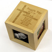 First Communion Photo Cube - Personalized