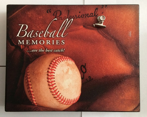 Baseball Memories ... Are the Best Catch!! Wall Art with Clip Photo Holder - Less Than Perfect