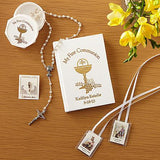 First Holy Communion Gifts Sets - White or Black - Personalized with Your Child's Name