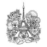 Color Your Decal - Eiffel Tower - Color - Peel - Stick - Create Your Own Art