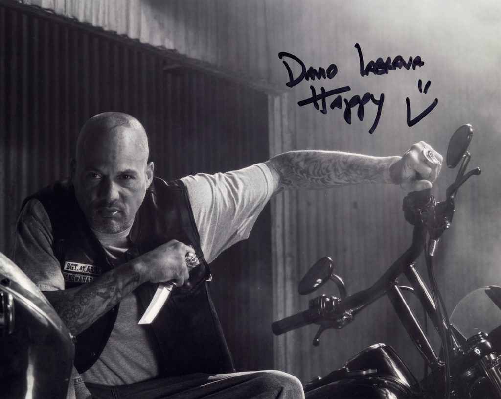 DAVID LABRAVA IN PERSON SIGNED PHOTO FROM SONS OF ANARCHY