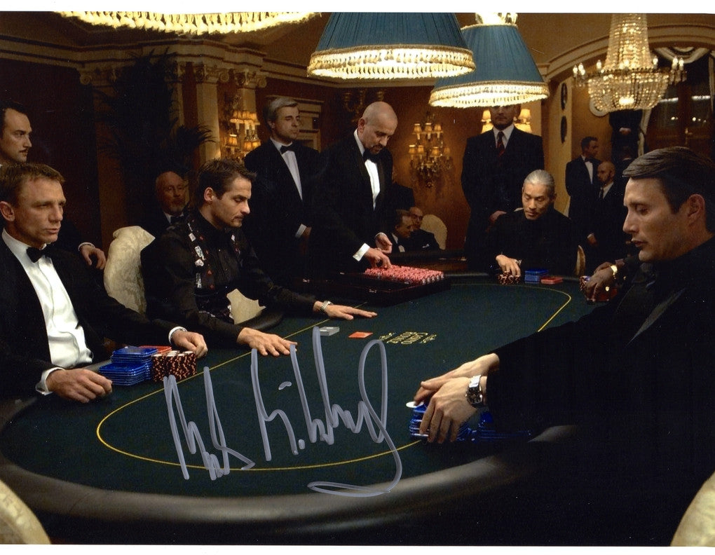 MADS MIKKELSEN SIGNED IN PERSON PHOTO FROM CASINO ROYALE