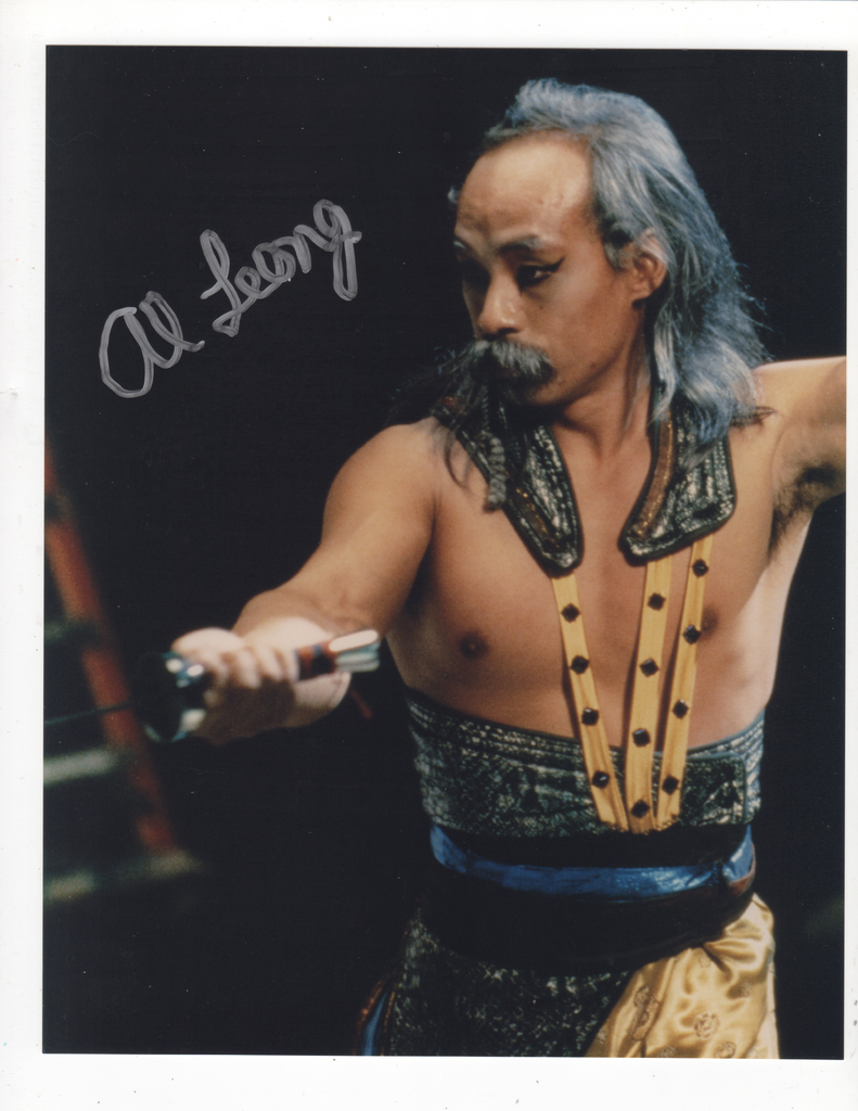 ALBERT LEONG AMERICAN STUNTMAN & ACTOR IN PERSON SIGNED PHOTO