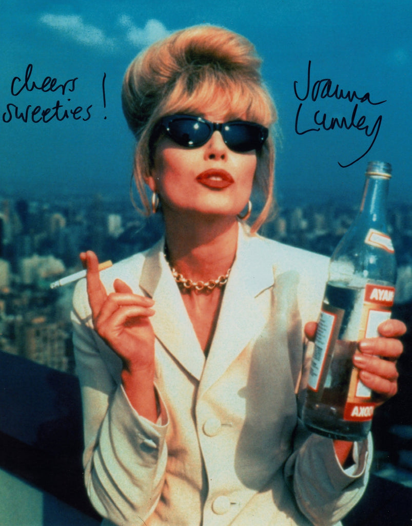 JOANNA LUMLEY SIGNED IN PERSON PHOTO ABSOLUTELY FABULOUS