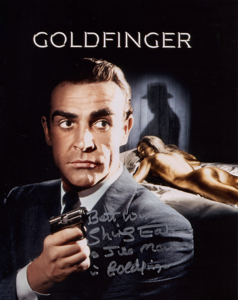 SHIRLEY EATON IN PERSON SIGNED PHOTO FROM THE1964 JAMES BOND FILM GOLDFINGER