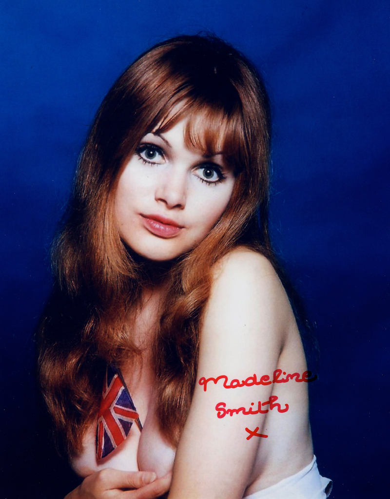 BOND GIRL MADELINE SMITH, JAMES BOND GIRL IN PERSON SIGNED PHOTO